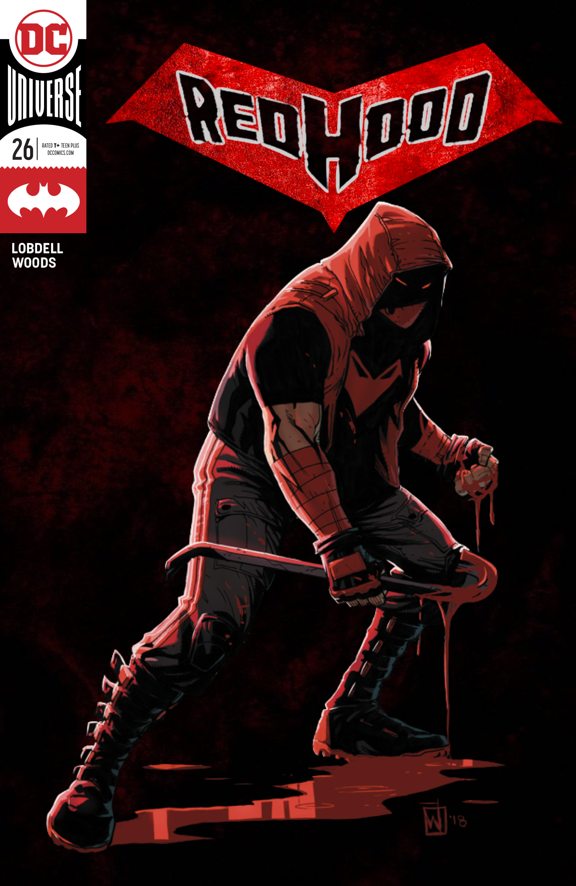Lovin' the new direction for Red Hood, so I made a mock-up cover with the trade dress and custom logo [Art by Pete Woods] 4K