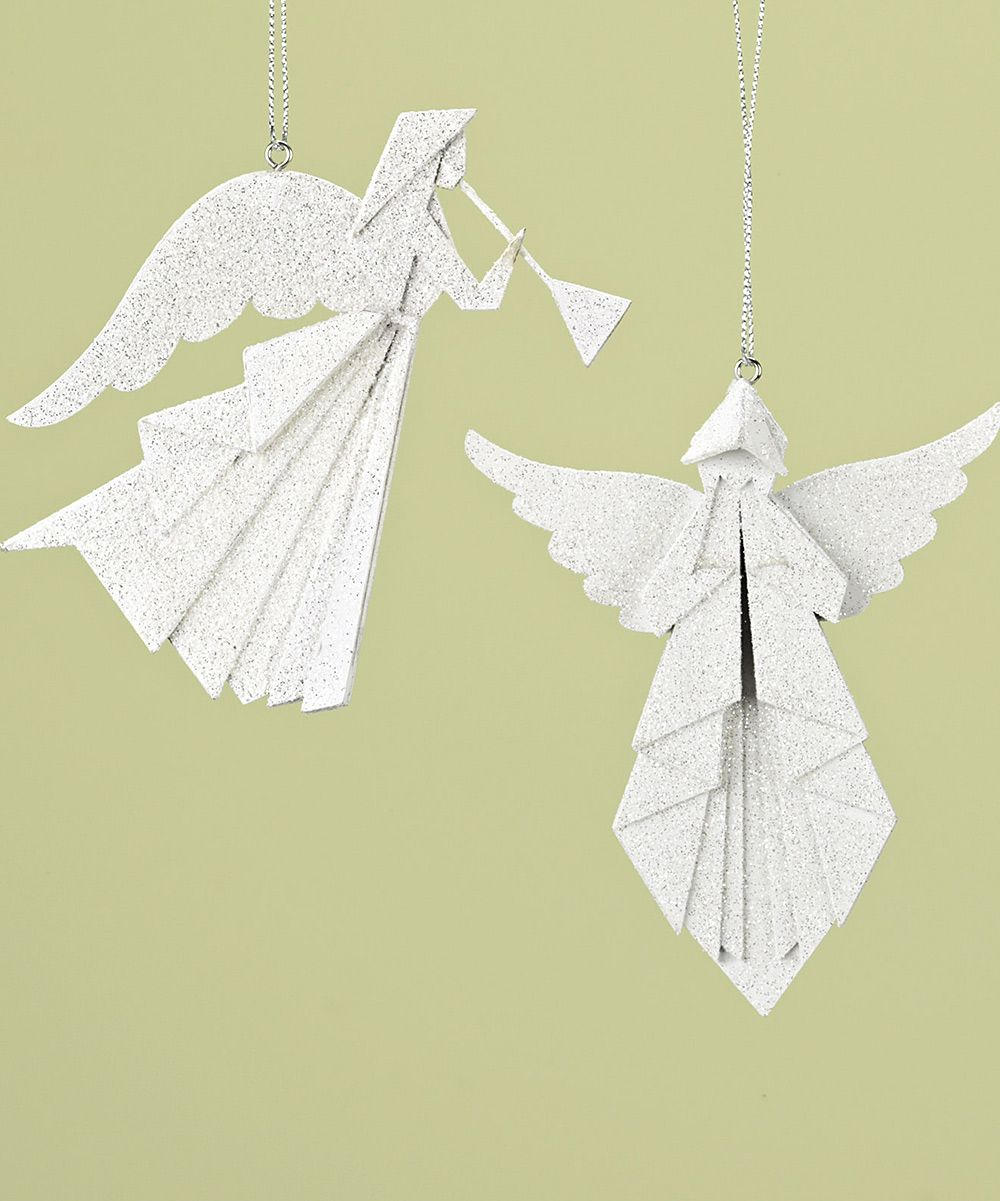 angel origami ornament set angels pinterest papier. Black Bedroom Furniture Sets. Home Design Ideas