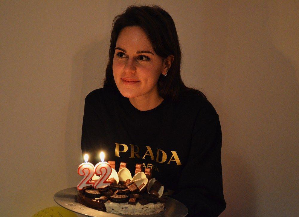 I made my bday cake dasynka fashion blogger bday birthday