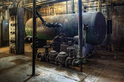 Boiler Room - Boiler at the abandoned Linda VIsta Hospital.