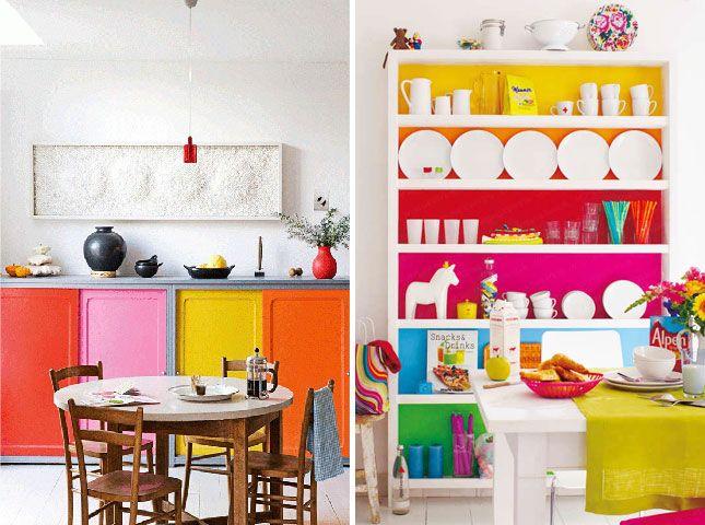 10 Bold Color-Blocked Interiors and Exteriors via Brit + Co. bright ...
