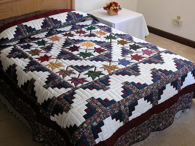 Autumn Splendor Log Cabin Quilt. Great for reference and ideas but quilt has been sold!  ~Kelly