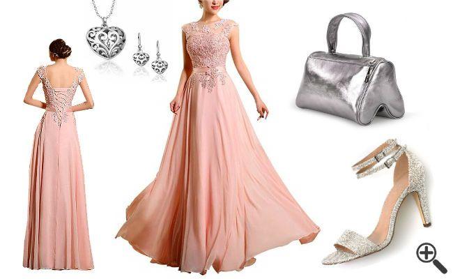 Kleid hochzeit pink