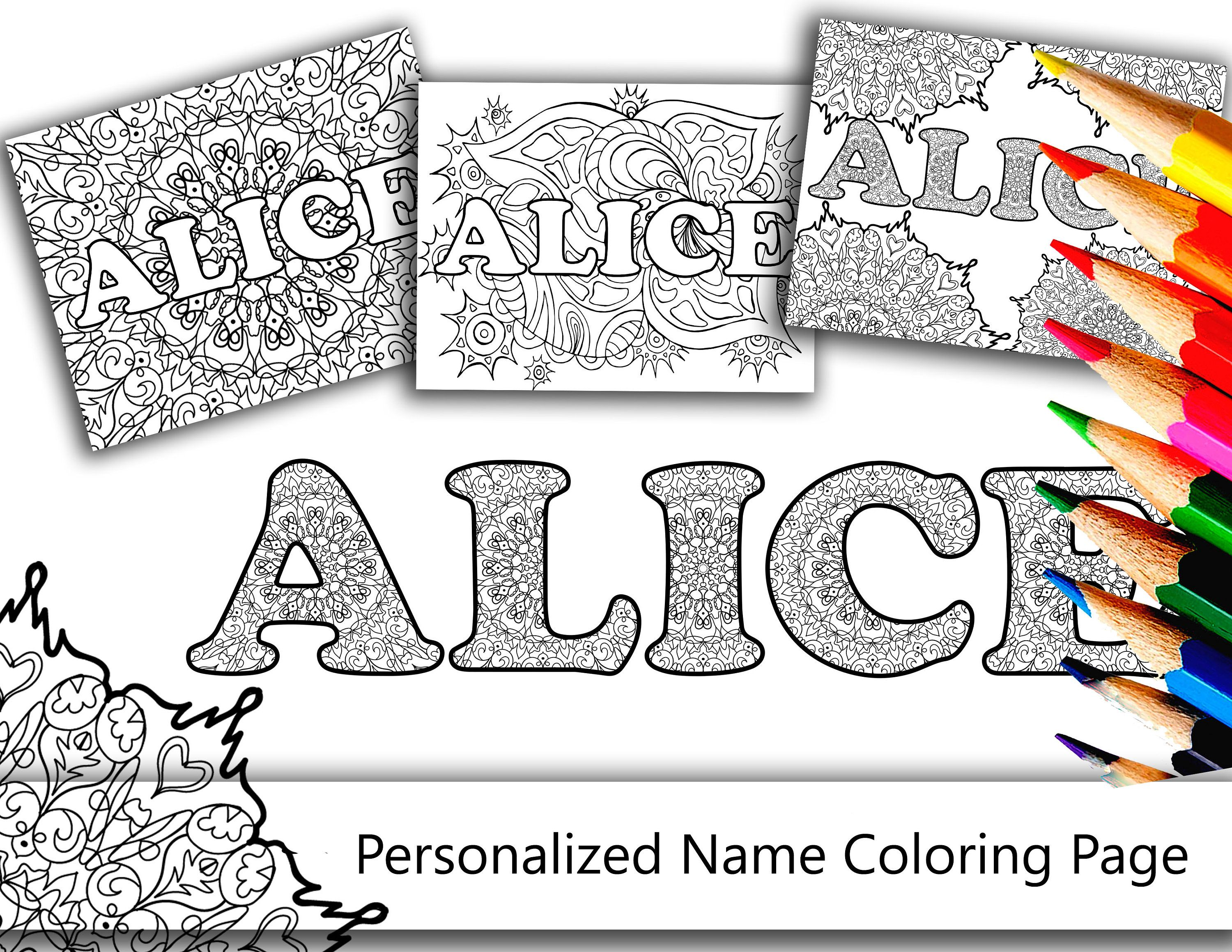 Pin On Personalized Coloring Pages