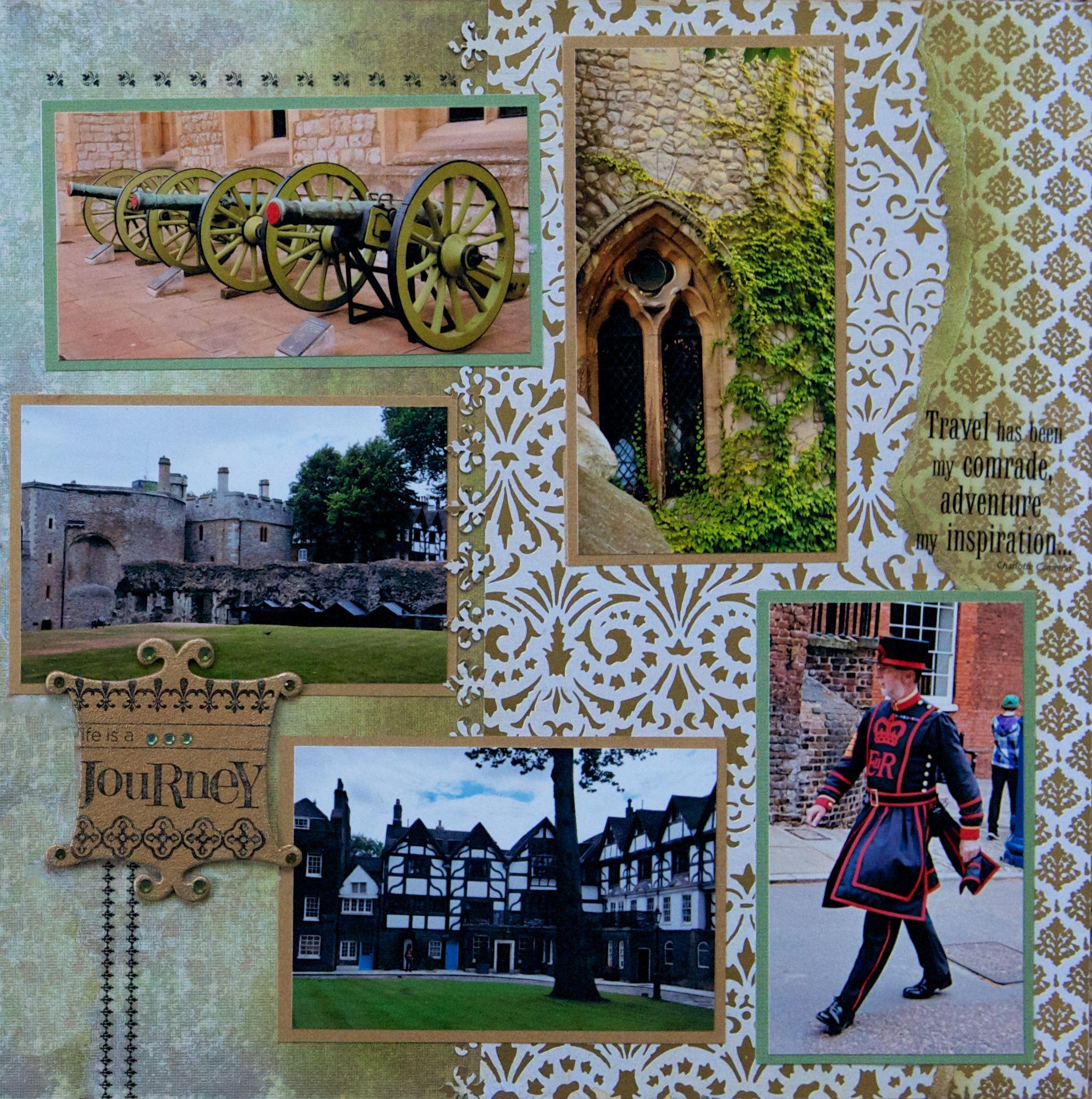 Scrapbook paper england - Tower Of London England Right Side Scrapbook Com