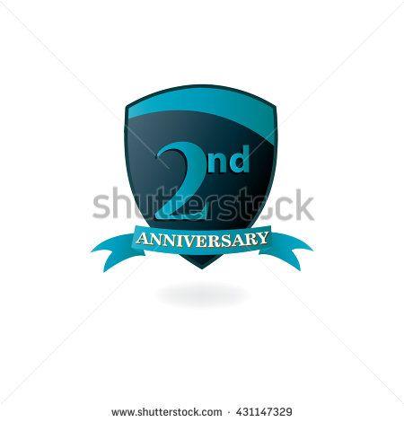 nd anniversary logo icon design template elements stock vector also rh nl pinterest