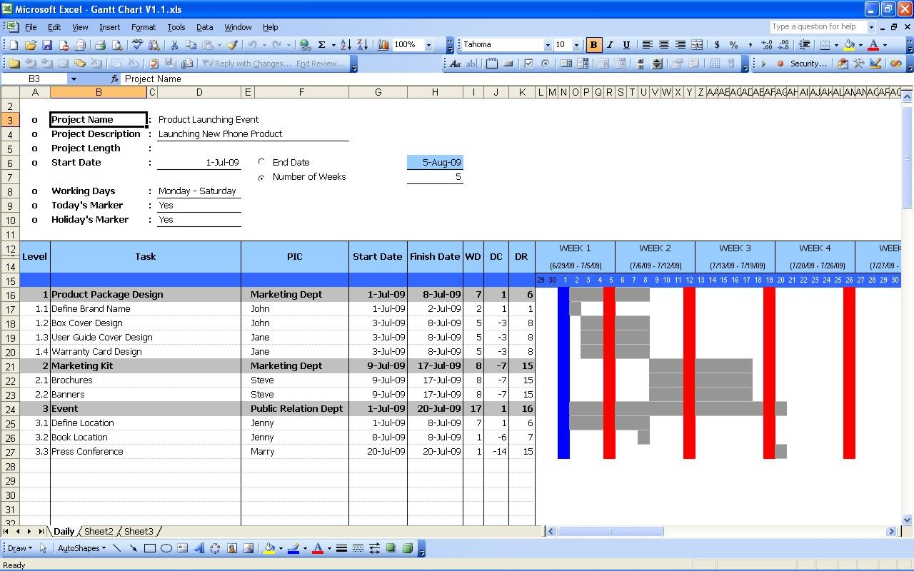 Project timeline with excel gantt chart cool stuff to buy project timeline with excel gantt chart cool stuff to buy pinterest proposal sample timeline and chart nvjuhfo Choice Image