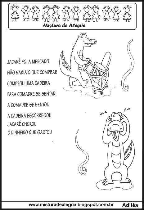 Folclore Parlendas Imprimir Colorir Jpg 464 677 Atividades De