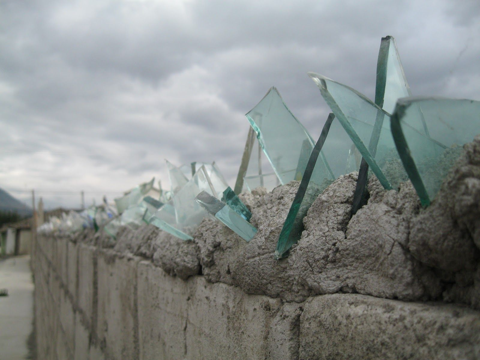 Broken Glass Top Of Wall Fences And Security Pinterest