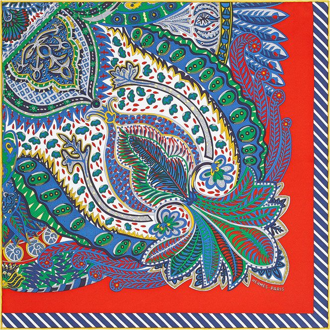 Hermes silk twill pocket square, 18
