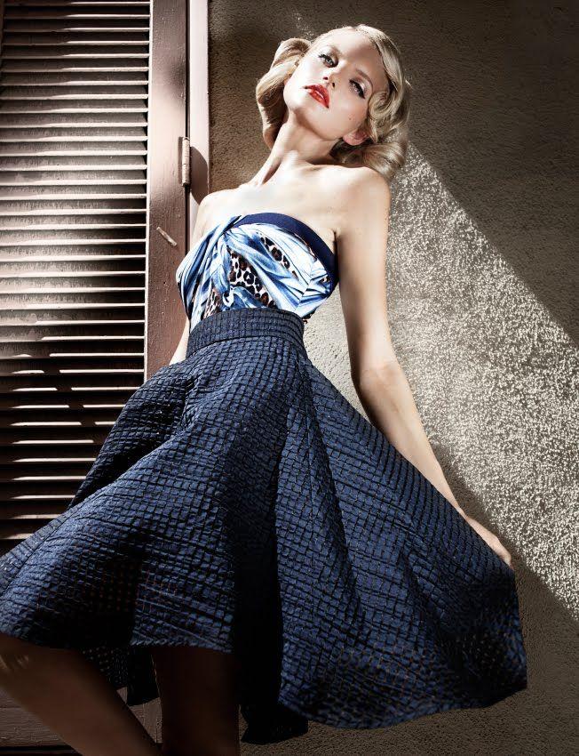 50's, 50's style, vintage style, retro, swimwear, skirt, 50's skirt, full skirt, Damernas Värld  Photo: Andreas Kock