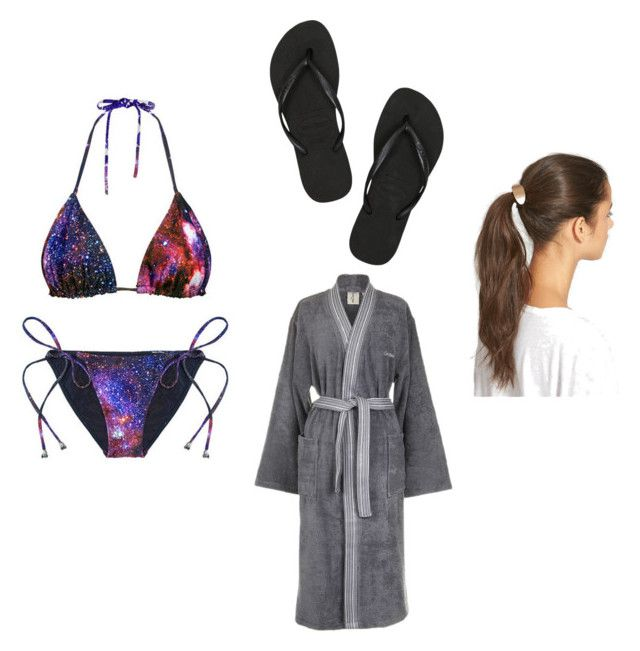 """PISCINA"" by adriane-apolinario ❤ liked on Polyvore featuring Calvin Klein, Havaianas and Tasha"