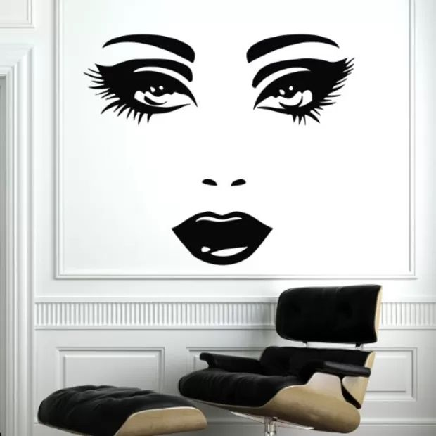 Pin By Renata Mendys On Spa Ideas Pinterest Beauty Salon Decor - Wall stickershuhushopxaudrey hepburn beautiful eyes removable