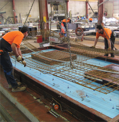 Photo Of The Construction Of A Precast Concrete Panel In