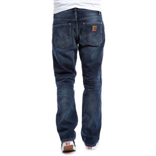 CARHARTT Marlow Pant blue denim natural dark wash jeans Otero coupe droite…