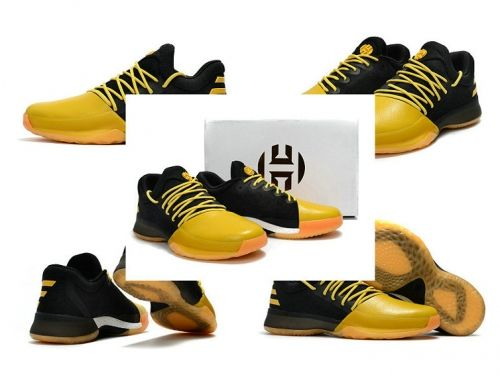 best sneakers cd7b5 74c4b men shoes casual sneakers Adidas Harden Vol.1 Fear the Fork Gold Black 2017 James  Harden Sneakers