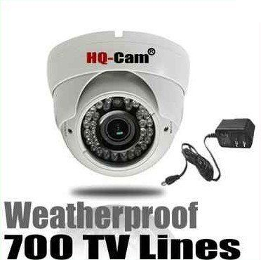 "HQ-Cam® Security Surveillance Camera - 700TV Color Lines High Resolution 1/3"" Sony Super HAD II CCD 2.8-12mm Varifocal Lens 42IR, 0 Lux Day Night CCTV Home Video Security Camera Outdoor/indoor by Q1C1. $109.99. Product Type:Color Infrared Outdoor Camera Image Sensor:1/3"" Sony Super HAD II CCD Effective Pixels:976 (H) x 508 (V) Horizontal Resolution:700 TV Lines Minimum Illumination:0 Lux (when IR LED on) Lens:2.8-12mm VariFocal Lens S/N Ratio:More than 48 dB Signal System..."