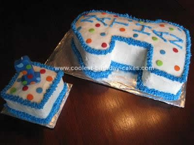 Homemade First Birthday Cake And Smash