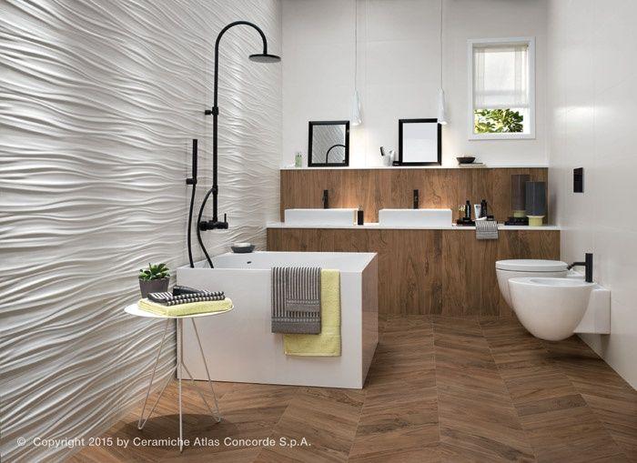 Bagnoidea rivestimento ceramico d wall design ribbon