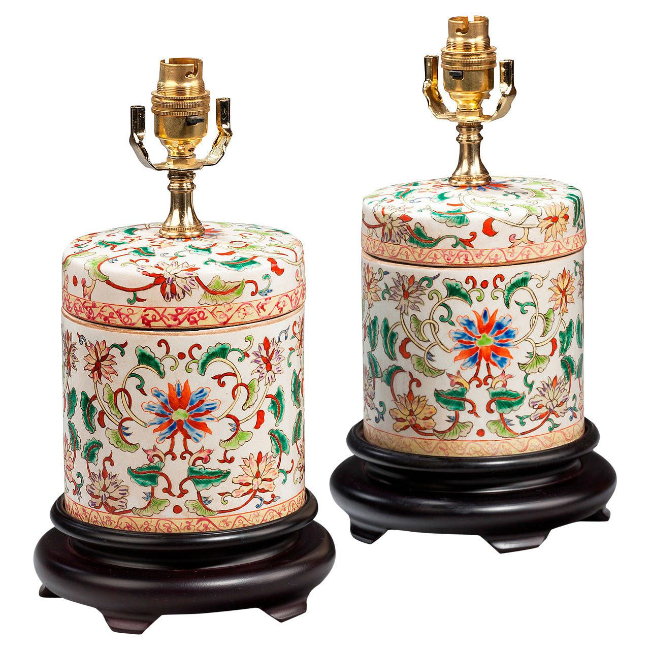 Pair of Canton Lamps