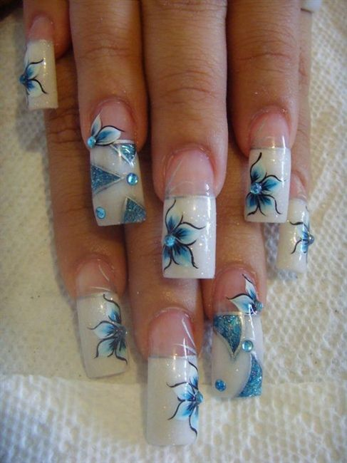 azul by eimy_djej from Nail Art Gallery | Nails | Pinterest | Nail ...