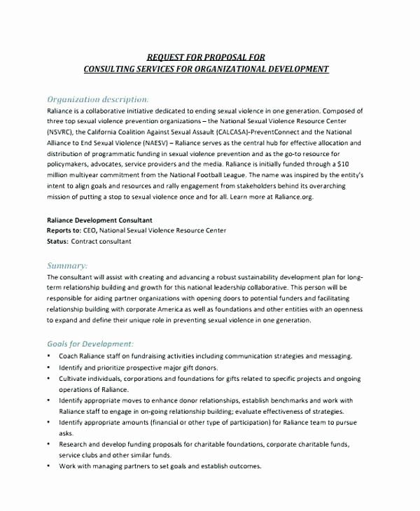 Consulting Proposal Template Doc Unique Business