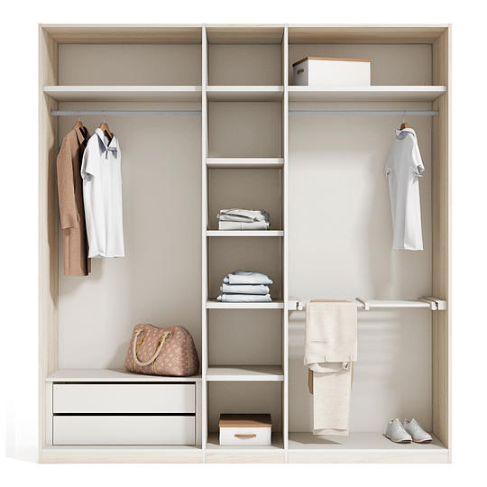 interior armario catlogo creta basic wwwexojocom cretabasic armarios - Dormitorio Con Vestidor
