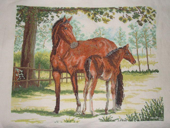 Punto de Cruz Caballos 1-2 Cross Stitch Horse