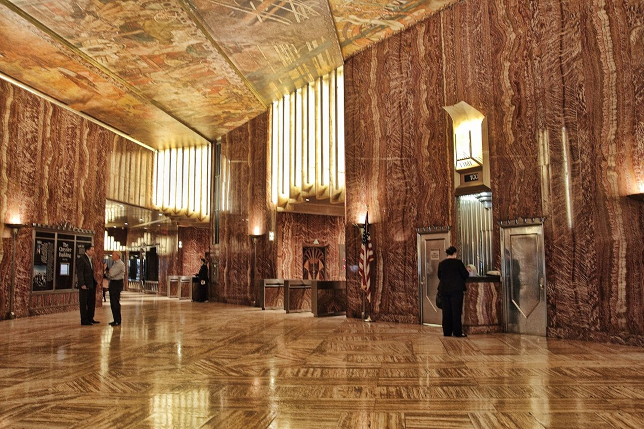The lobby of the chrysler building gorgeous garbage for Chrysler building lobby mural