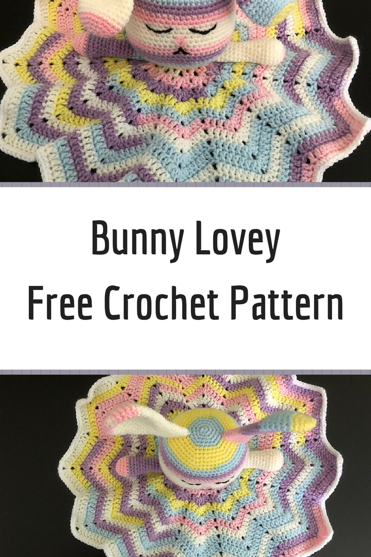 Free Pattern] Super Cute, And Very Cuddly Bunny Lovey | baby items ...