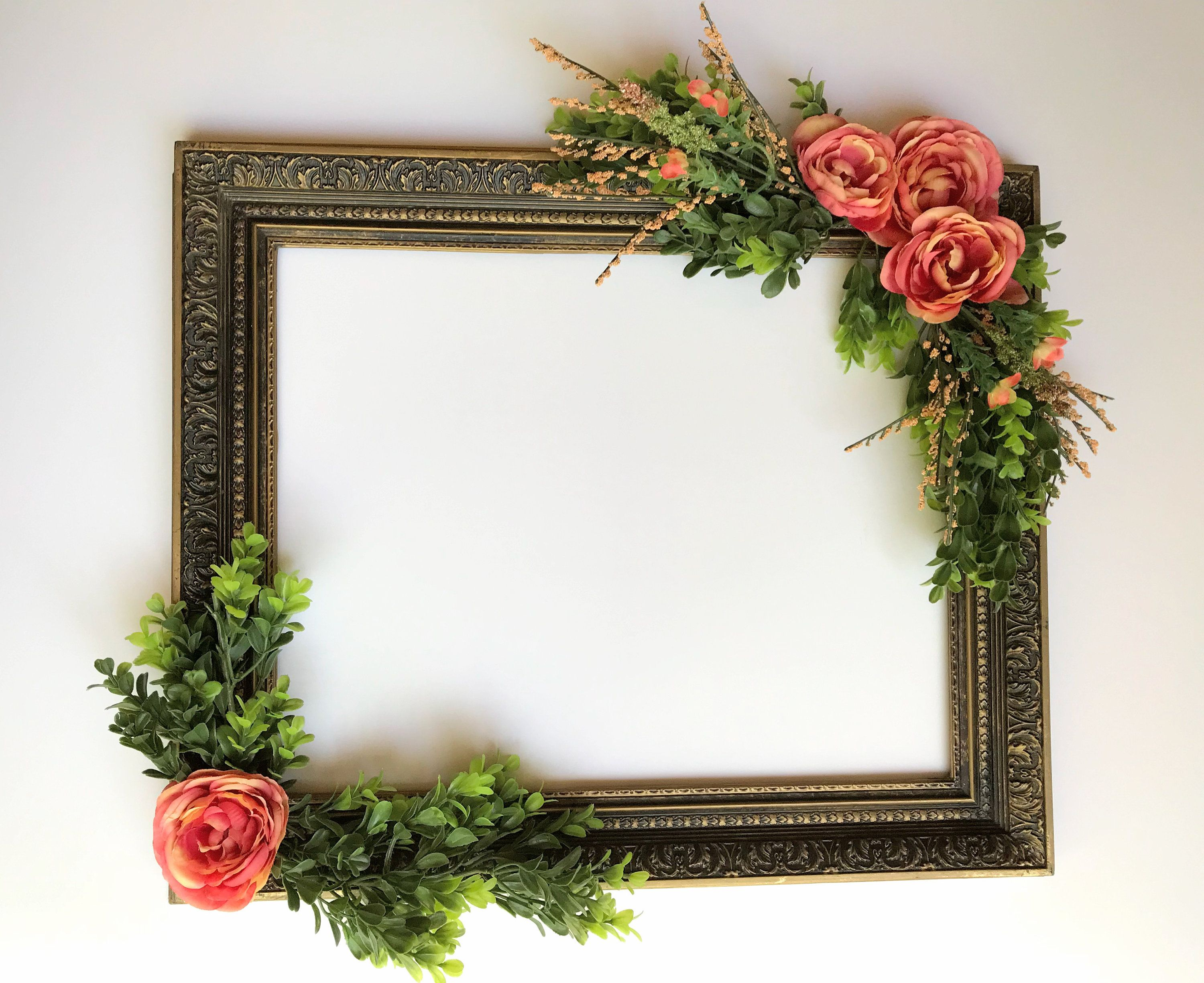 Wedding decorations at home  Decorated Floral Distressed Bronze Frame PlasticWedding