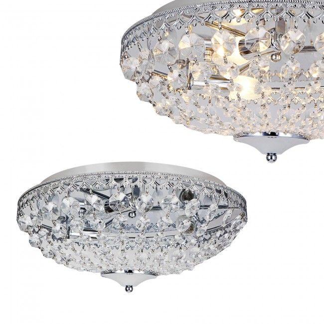 luxo] plafonnier cristal synthétique [˜40cm] lampadaire en
