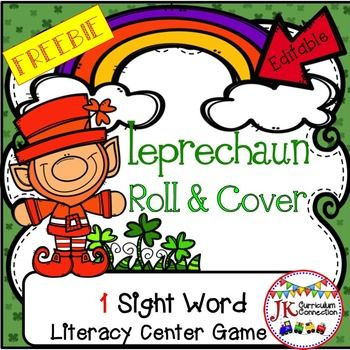 St Patrick S Day Sight Word Game FREEBIE Leprechaun Roll Cover