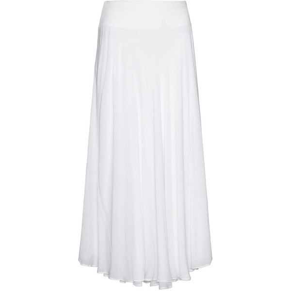 La Stampa White Plus Size Layered maxi skirt (1.955 NOK) ❤ liked on Polyvore