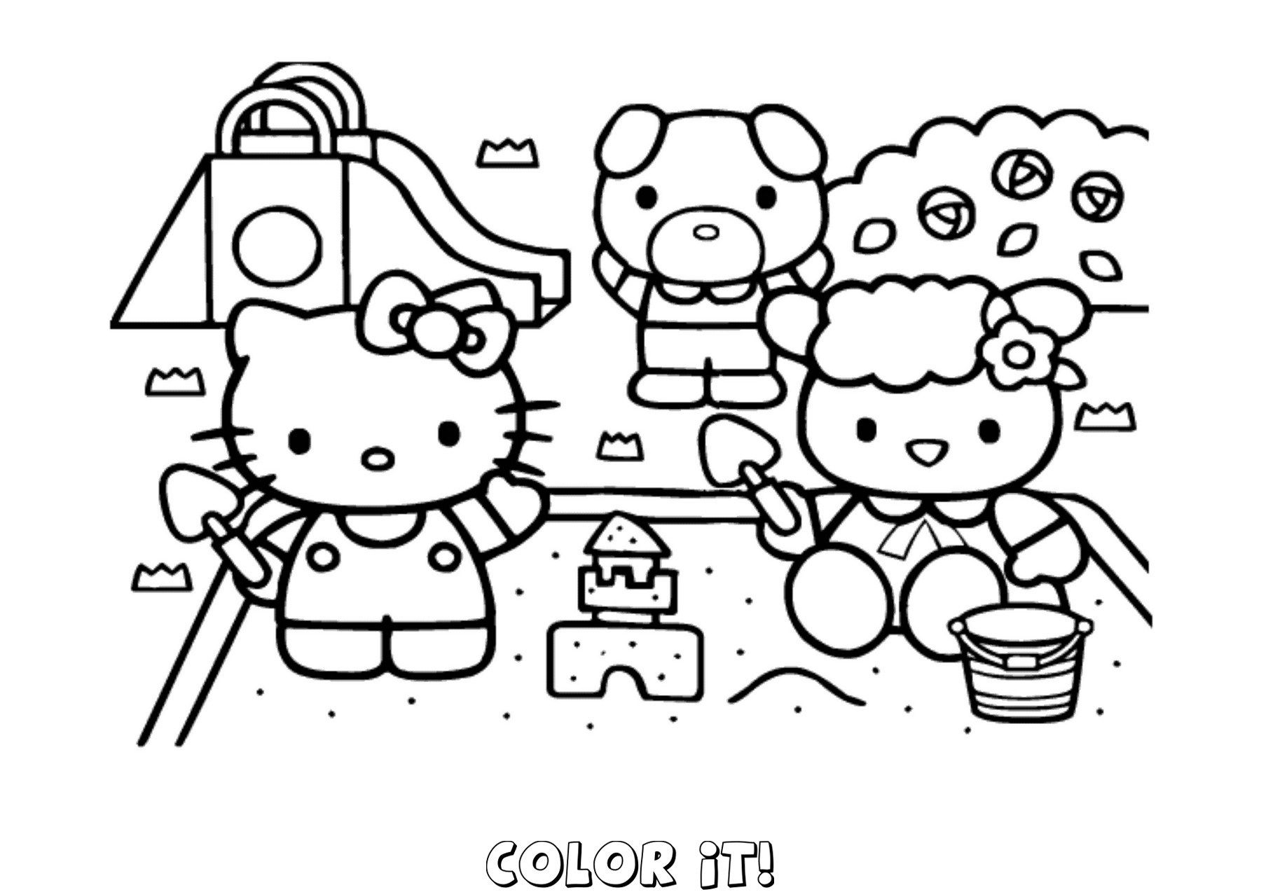 Elegant Picture Of Hello Kitty Color Pages Davemelillo Com Hello Kitty Coloring Kitty Coloring Hello Kitty Colouring Pages