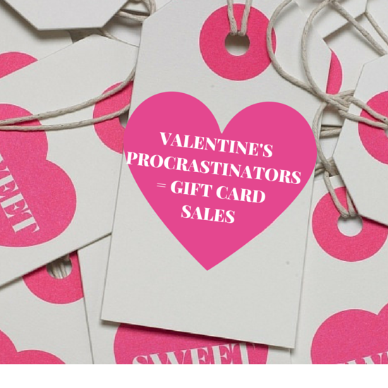 Valentine S Day Procrastinators Gift Card Sales Our Beauty
