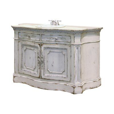 Photo of Habersham Kirtlington 61″ Single Bathroom Vanity Accent: Silver, Finish: Connoisseur/Classic White
