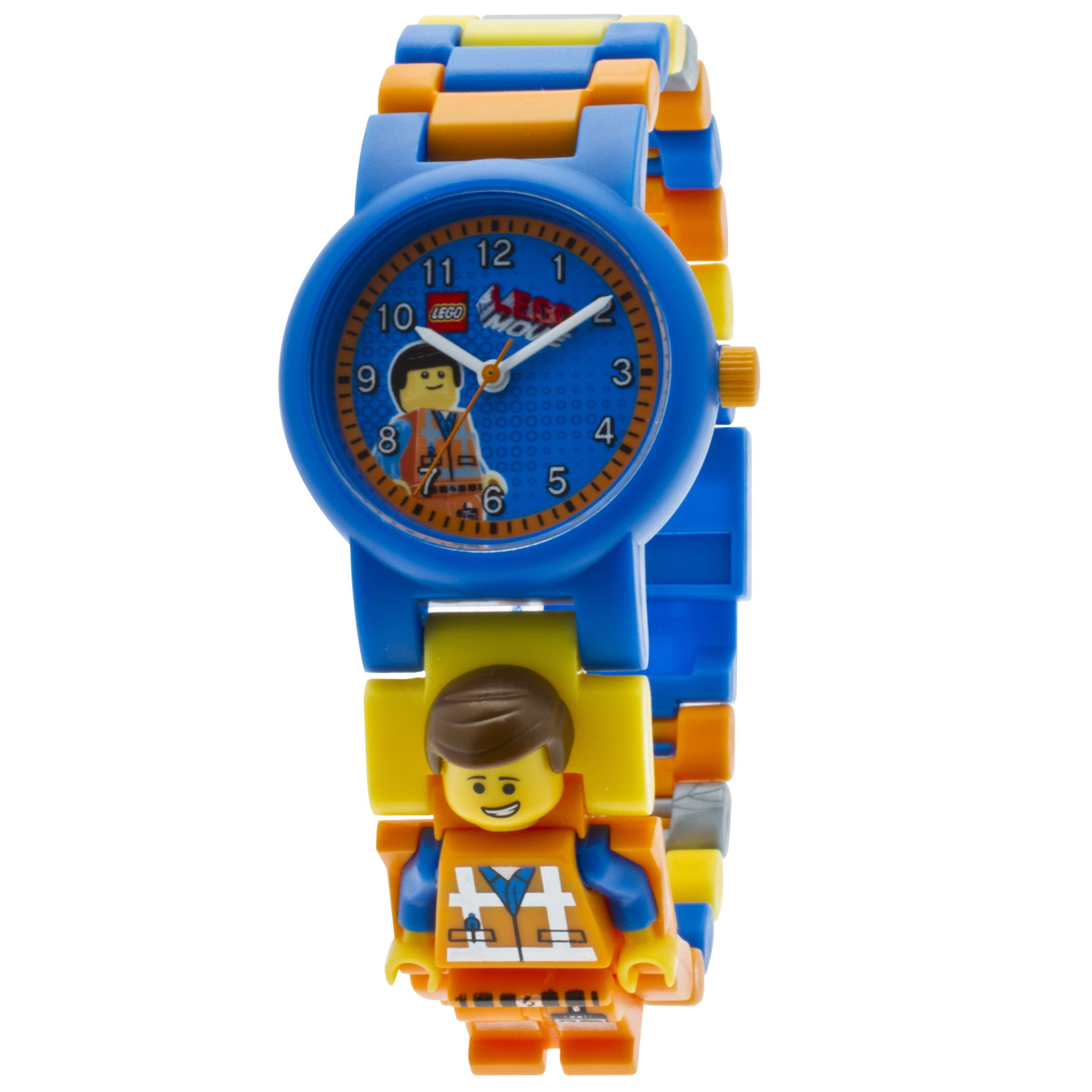 Lego Movie Emmet Kid's Minifigure Interchangeable Links Watch, Boy's