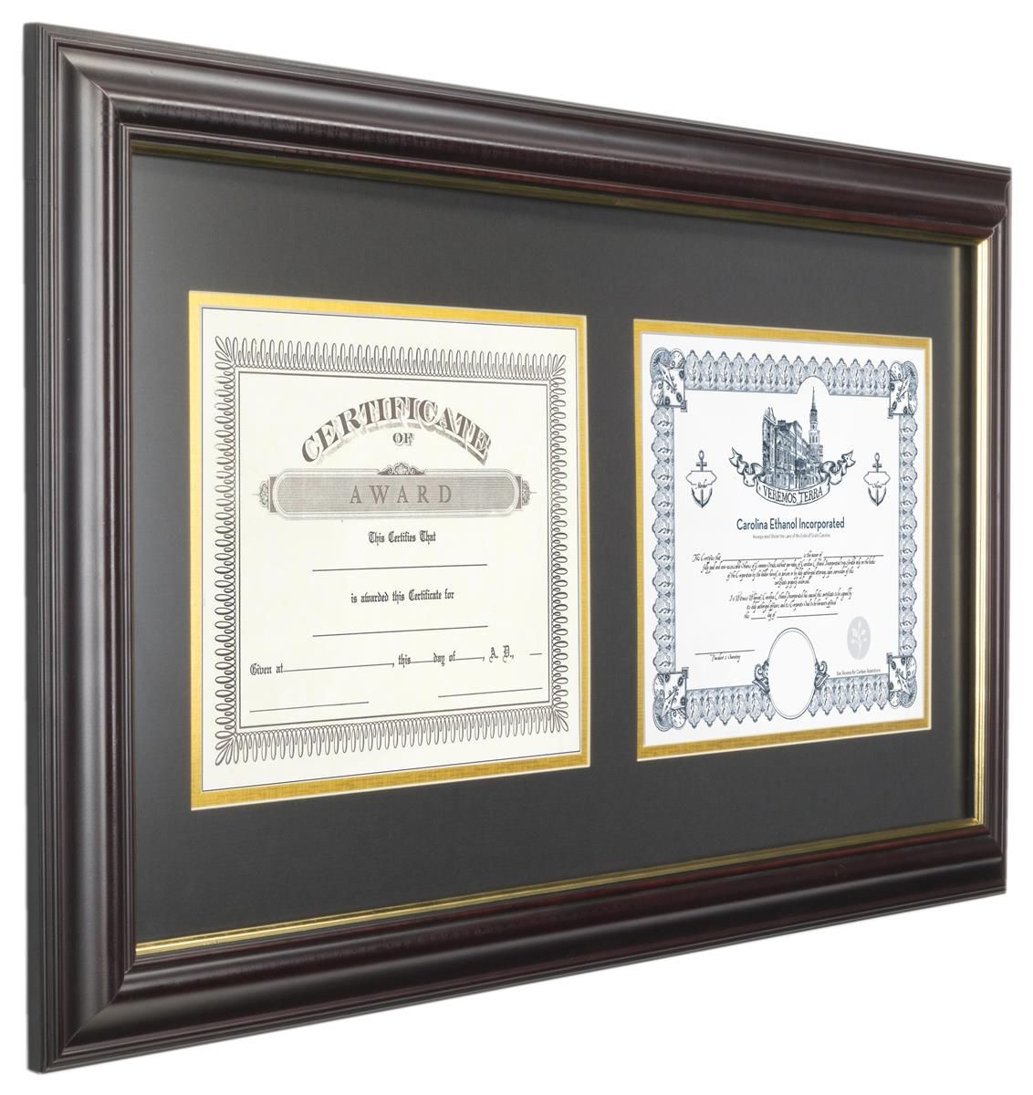 8 5 x 11 double graduation picture frame for wall black matted