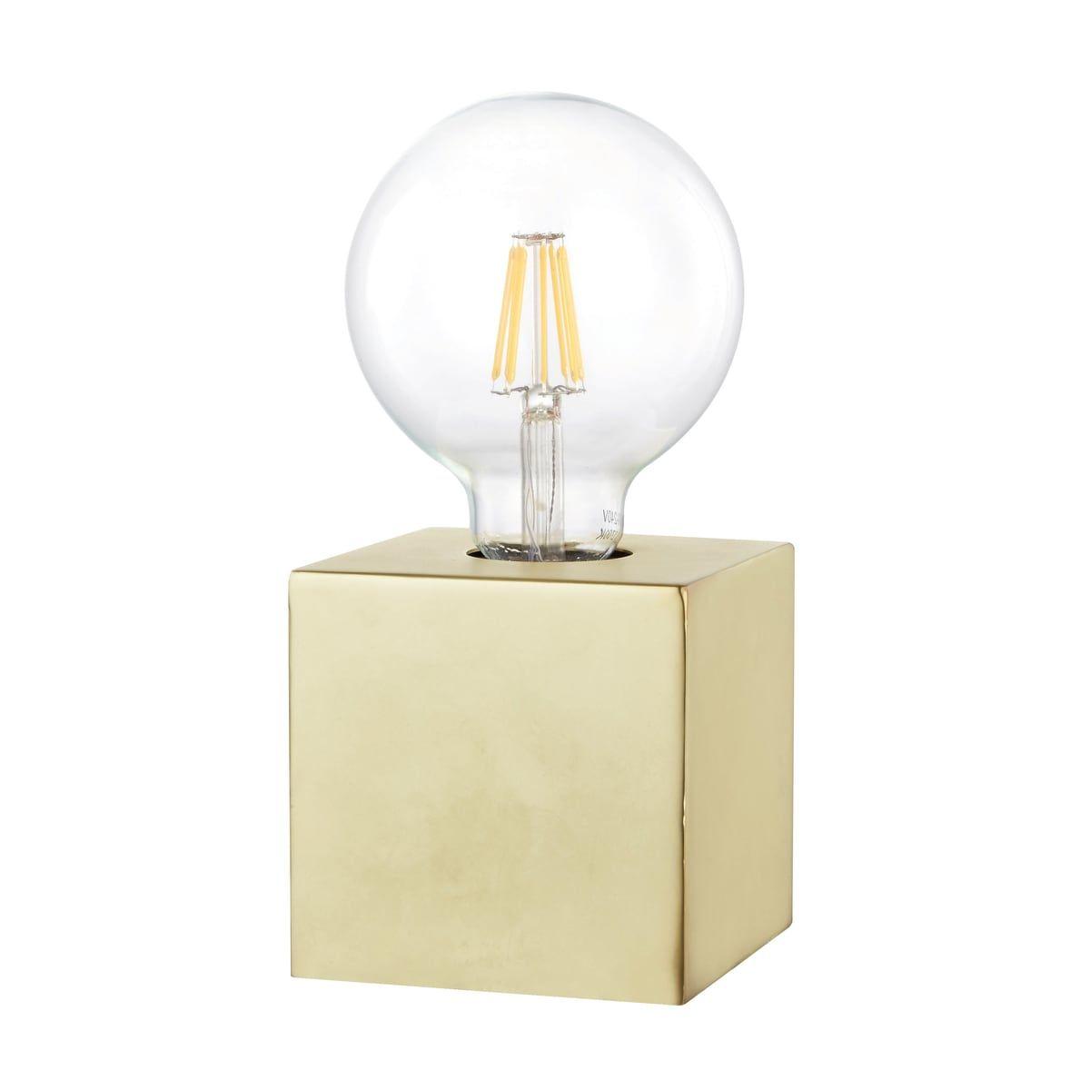 Lampada da comodino Scaly oro trasparente, in metallo, E27