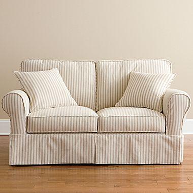 Love Ticking Stripes Furniture Slipcovers Love Seat Slipcovered Sofa