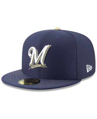 new product 0d033 1a1f9 New Era Milwaukee Brewers Spring Training 59FIFTY-fitted Cap - Blue 7 5 8