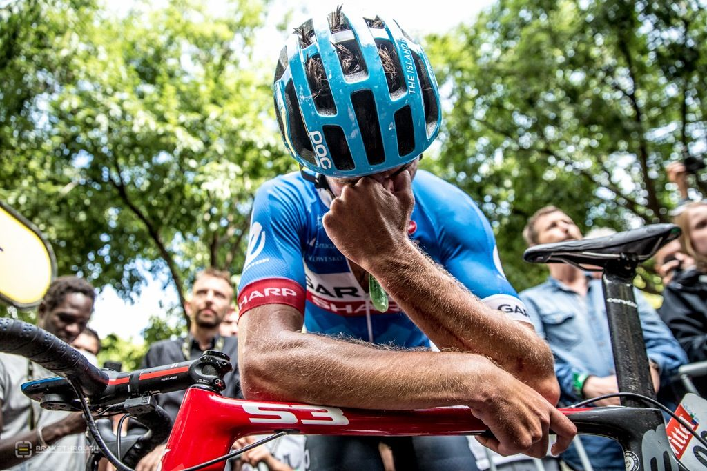 """""""It's just bitter, bitter disappointment,"""" said Bauer after the race in Nîmes. """"It was a childhood dream to win a stage of the Tour de France. For a person like myself, a domestique, I am normally working for others. So it is my first chance to actually be up the road and with the change in the wind and the weather in the last 100 kilometres, we really realised, myself and Martin, were in with a chance for the win."""""""