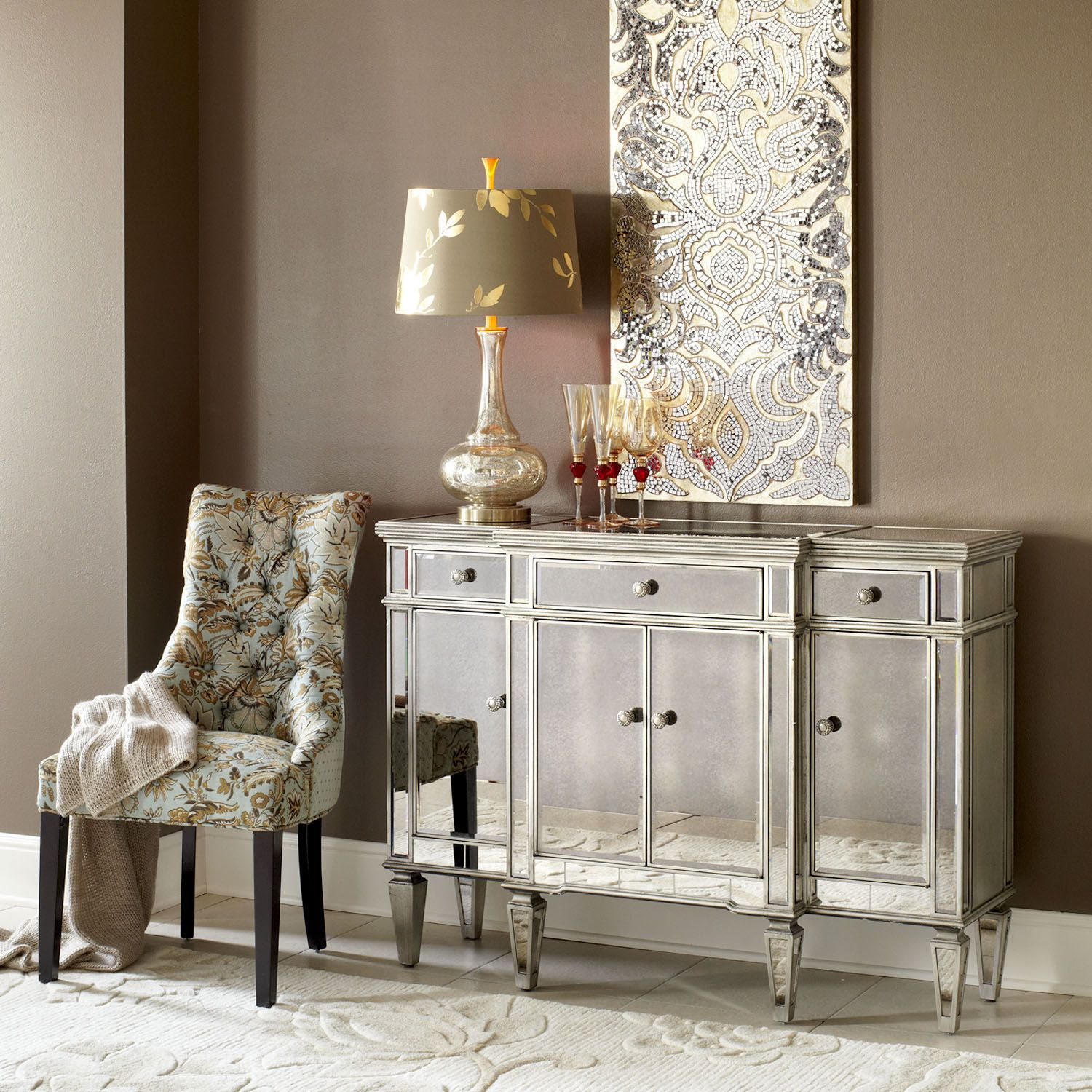 hayworth mirrored furniture. Hayworth Mirrored Buffet - Silver | Pier 1 Imports Furniture