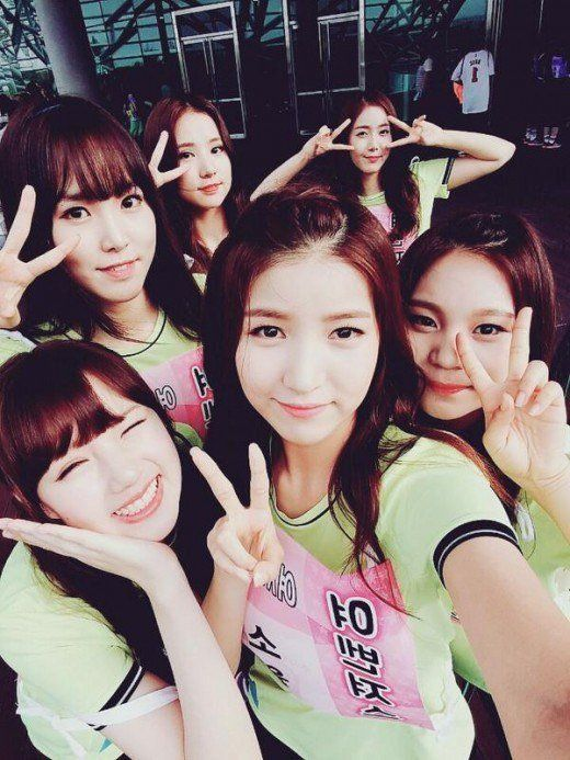 Your Favorite Idols Say Hi From The 2015 Idol Star Athletics Championship G Friend Latest Music Videos Korean Girl Groups