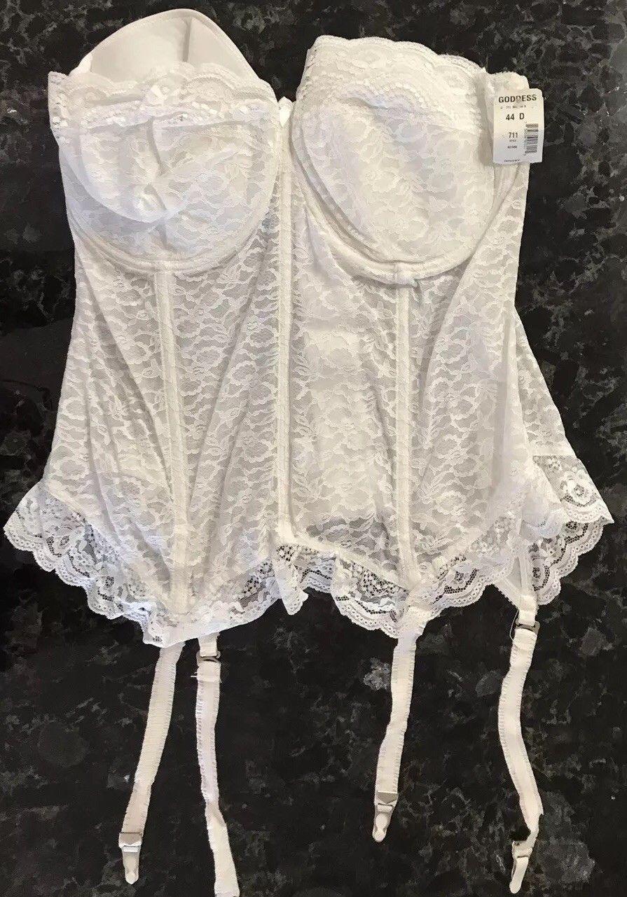 Goddess Vintage Floral Lace Longline Strapless Garter Corset Bustier Bra NEW!