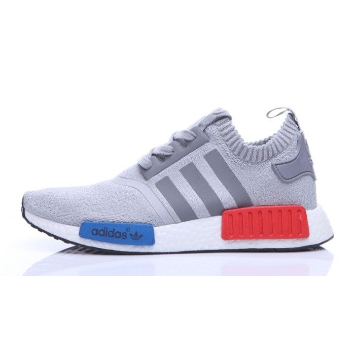 New Adidas Originals NMD Runner 2016 Mens sport shoes Grey/Blue/Red S68523
