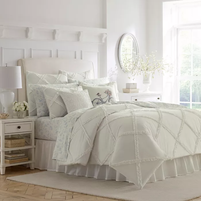 White Adelina Duvet Cover Set Laura Ashley In 2020 Comforter Sets Full Comforter Sets King Comforter Sets