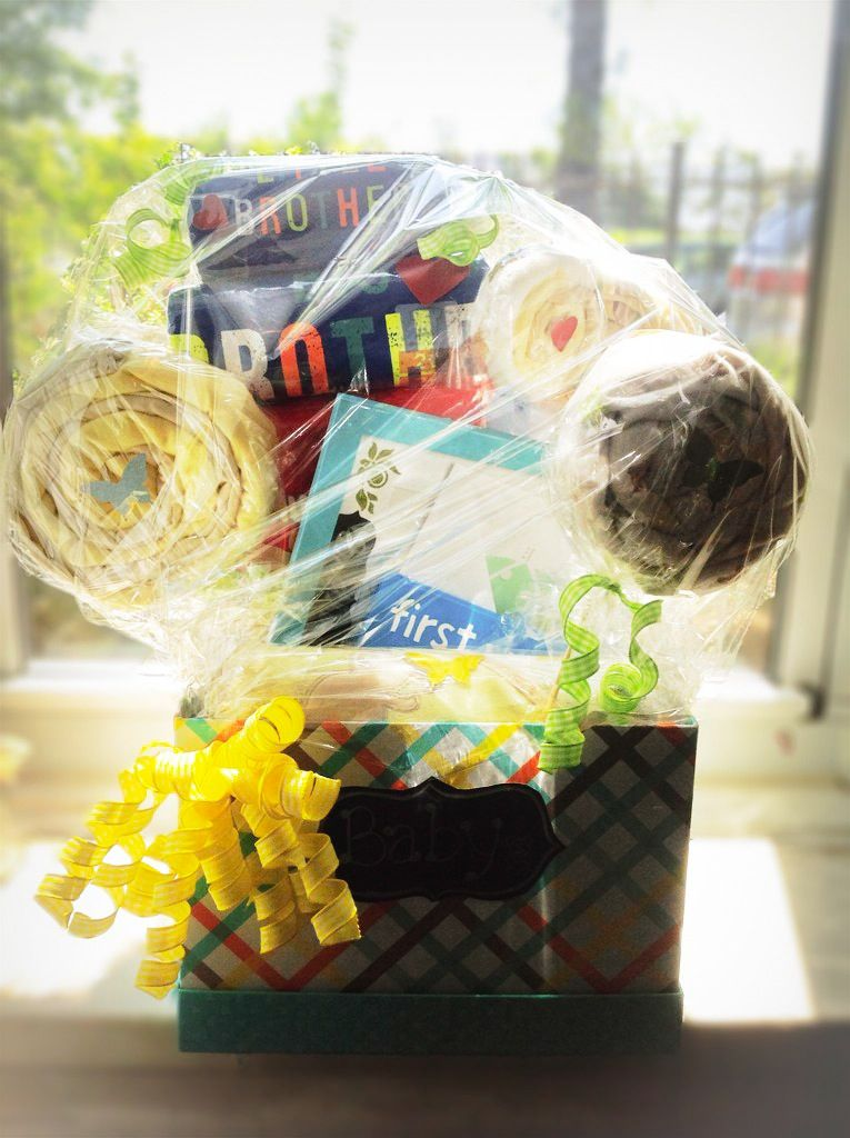 Big brother little brother gift basket for second baby