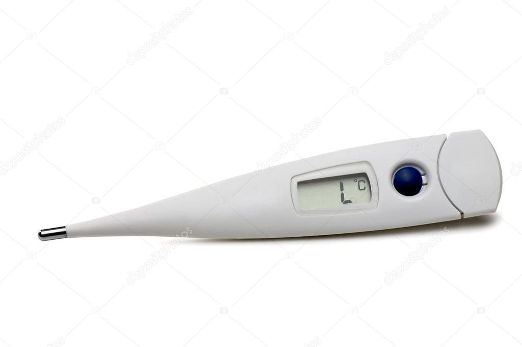 Thermometer White Background Stock Photo , #SPONSORED